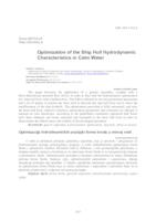 Optimization of the Ship Hull Hydrodynamic Characteristics in Calm Water